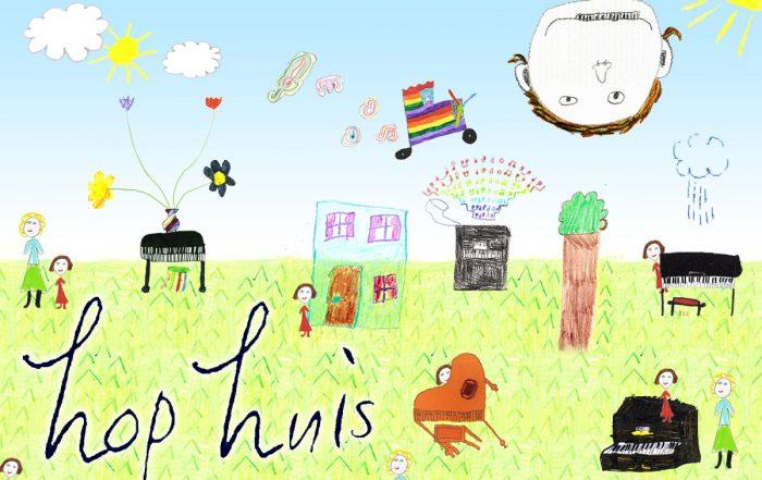 Collage gemaakt door Meneer Web met tekeningen van HoP leerlingen.